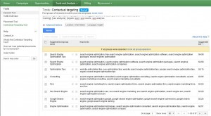 SEO Analysis Contextual targeting tool