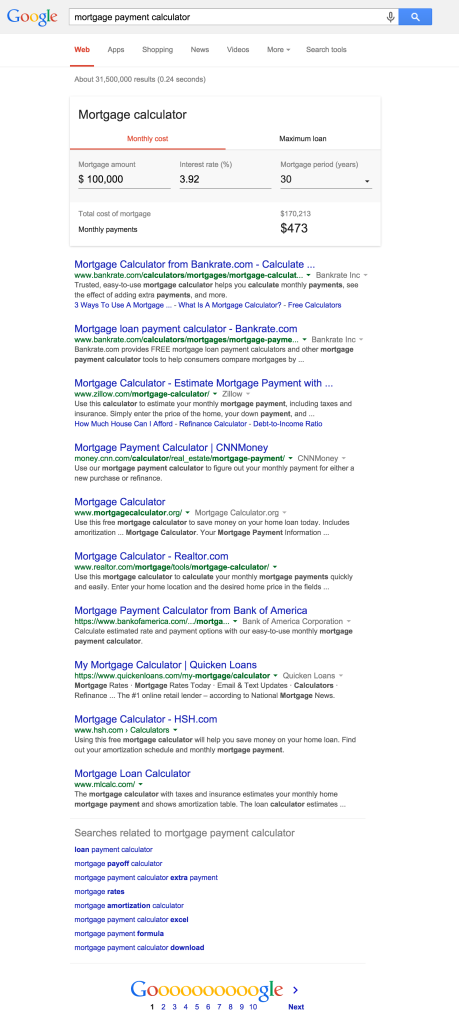 mortgage payment calculator - Google Search