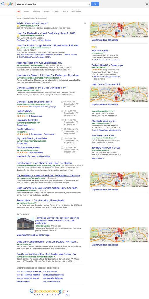 used car dealerships - Google Search
