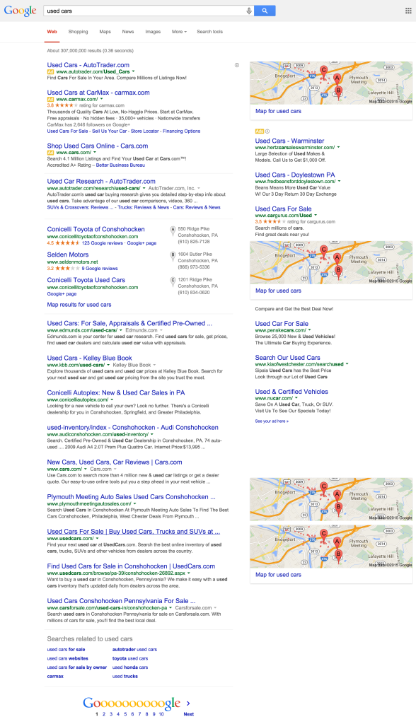 Google Search Used Cars At Dealerships