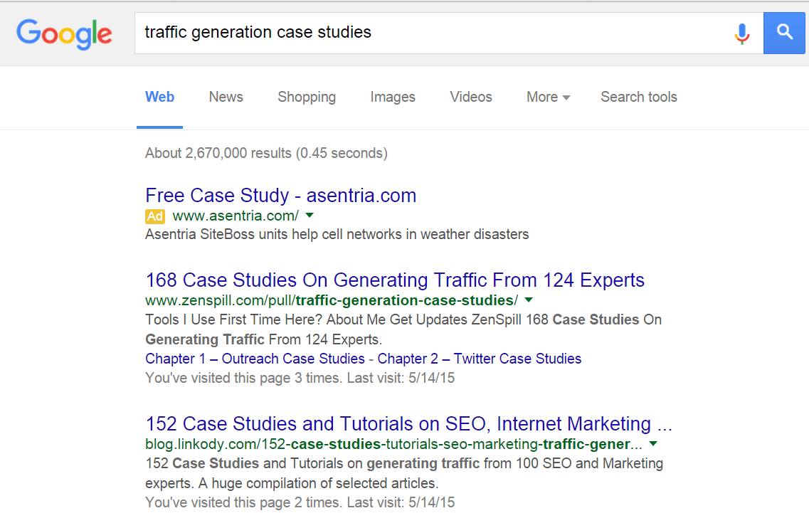 Traffic Generation Case Studies
