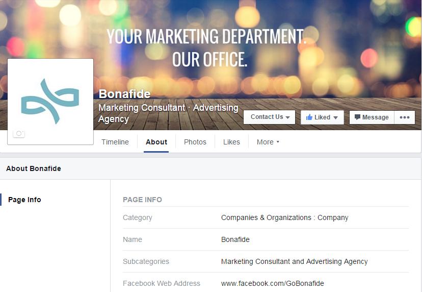 facebook social media account example