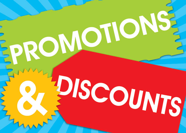promotions and discouns for conversion improvement
