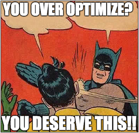 how not to over optimize your website